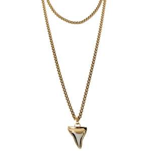 Givenchy Small Shark Tooth Double Layered Necklace