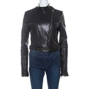 Givenchy Black Lamb Leather Motorcycle Zip Up Jacket M