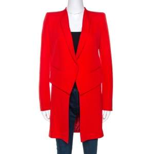 Givenchy Red Wool Single Button Coat S