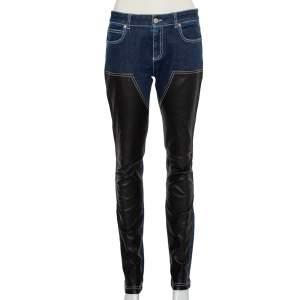 بنطلون جينز جيفنشي دينك أزرق كحلي بقصات أرجل ضيقة مقاس متوسط - ميديوم
