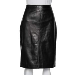 Givenchy Dark Brown Leather Pencil Skirt L