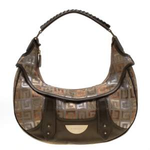 Givenchy Multicolor Signature Canvas and Leather Hobo