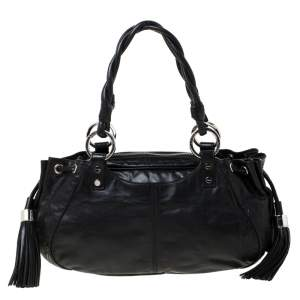 Givenchy Black Leather Pumpkin Tassel Satchel