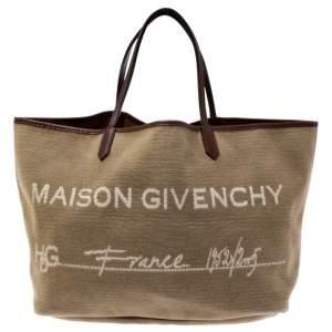 Givenchy Beige Fabric Antigona Maison Hdg Shopper Tote