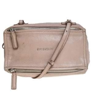 Givenchy Beige Leather Mini Pandora Sugar Crossbody Bag