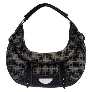 Givenchy Grey/Black Canvas and Leather Hobo