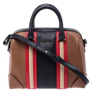 Givenchy Multicolor Leather Lucrezia Colorblock Bowler Bag