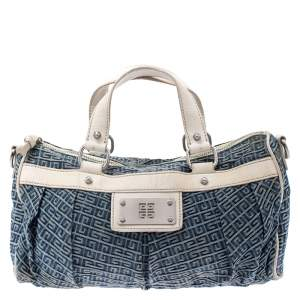 Givenchy Blue/White Denim and Leather Crossbody Bag