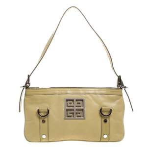Givenchy Light Yellow Leather Small Baguette Bag