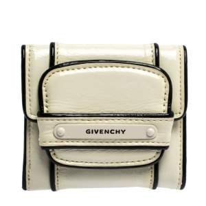 Givenchy White Patent Leather Compact  Wallet
