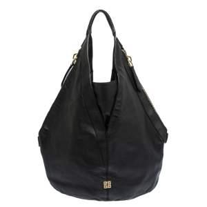 Givenchy Black Leather Tihan Hobo