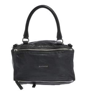 Givenchy Black Leather Large Pandora Shoulder Bag