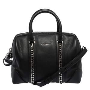 Givenchy Black Leather Medium Chain Lucrezia Duffel Bag