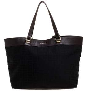 Givenchy Brown/Black Signature Canvas and Leather Canvas Tote