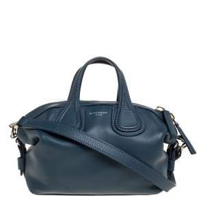 Givenchy Blue Leather Mini Nightingale Bag