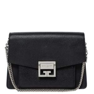 Givenchy Black Leather GV3 Shoulder Bag