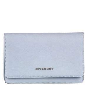 Givenchy Blue Leather Pandora Wallet on Chain