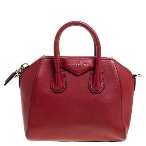 Givenchy Red Leather Mini Antigona Satchel