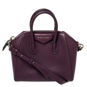 Givenchy Plum Leather Mini Antigona Satchel