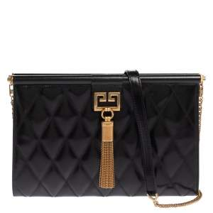 Givenchy Black Quilted Leather Medium Gem Shoulder Bag