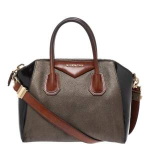 Givenchy Tri Color Textured Leather and Rubber Small Antigona Satchel