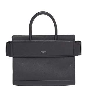 Givenchy Black Leather Medium Horizon Tote