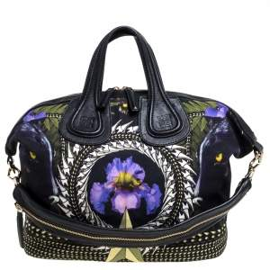 Givenchy Multicolor Printed Canvas and Leather Nightingale Satchel