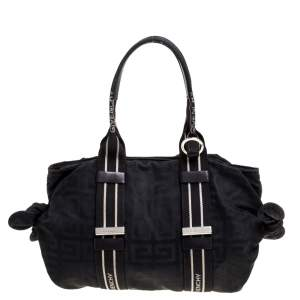 Givenchy Black Nylon Bow Baguette Bag
