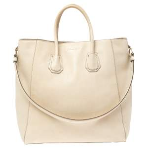 Givenchy Light Beige Leather Antigona Tote