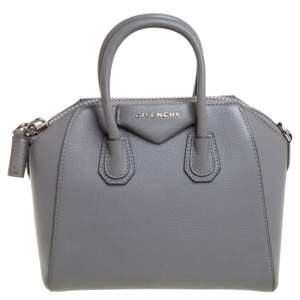 Givenchy Grey Leather Mini Antigona Satchel