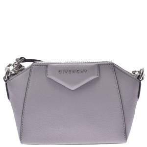 Givenchy Grey Leather Antigona Small Bag