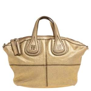 Givenchy Metallic Gold Leather Mini Nightingale Bag