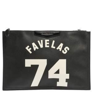 Givenchy Black Leather Favelas 74 Antigona Pouch