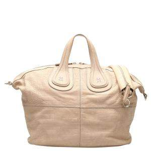Givenchy Beige Python Leather Nightingale Bag