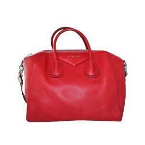 Givenchy Red Leather Antigona Bag