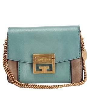 Mulberry Blue Leather Mini GV3 Crossbody Bag