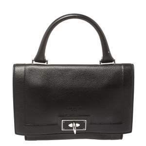 Givenchy Dark Choco Leather Shark Tooth Top Handle Bag