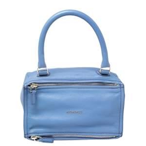 Givenchy Blue Leather Pandora Shoulder Bag