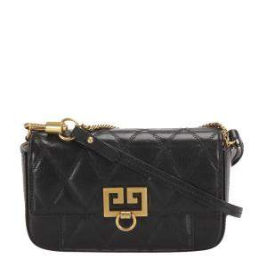 Givenchy Black Quilted Leather Mini Crossbody Bag