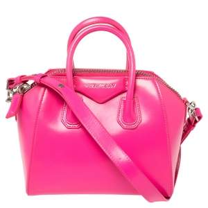 Givenchy Neon Pink Leather Mini Antigona Satchel