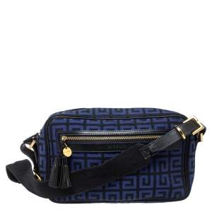 Givenchy Blue/Black Canvas and Leather Shoulder Bag