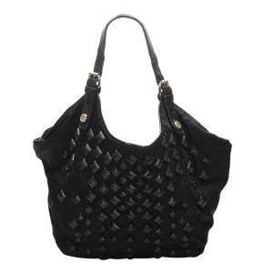 Givenchy Black New Sacca Studded Nylon Shoulder Bag