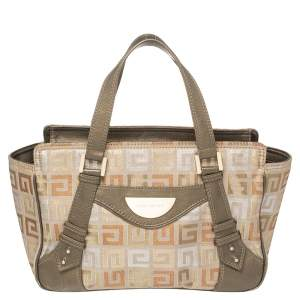 Givenchy Muticolor Monogram Canvas And Leather Tote