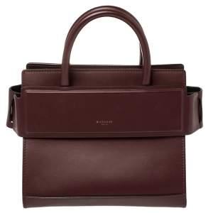Givenchy Burgundy  Leather Mini Horizon Crossbody Bag