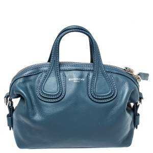 Givenchy Teal Blue Leather Mini Nightingale Bag
