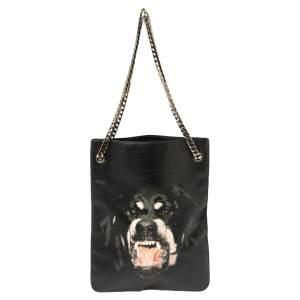 حقيبة جيفنشي روت ويلر جلد أسود بسلسلة