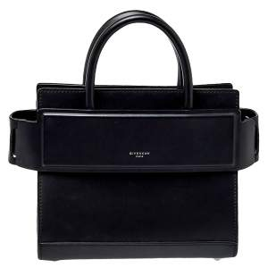 Givenchy Black Leather Mini Horizon Crossbody Bag