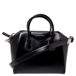Givenchy Black Smooth Leather Small Antigona Satchel