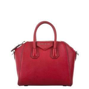 Givenchy Red Leather Antigona Satchel Bag