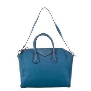 Givenchy Blue Leather Antigona Satchel Bag